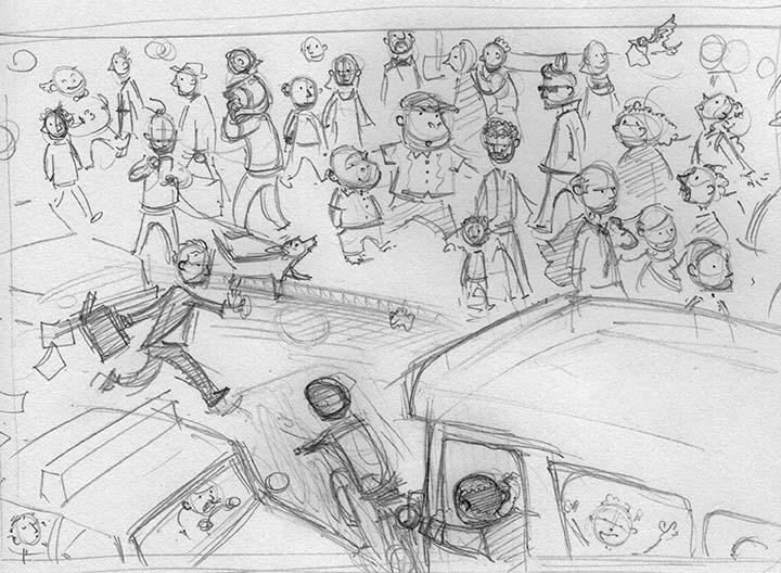 KC city sketch